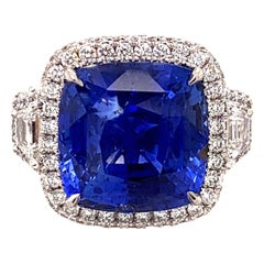 18.33 Carat Ceylon Unheated Sapphire Ring