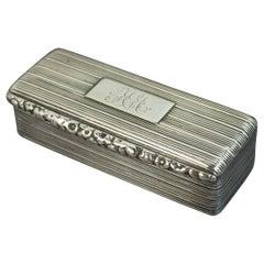 1834 William IV Hallmarked Silver Thomas Shaw Snuff Box