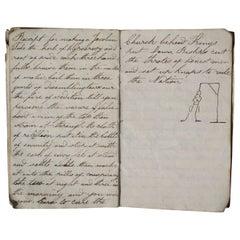 1836 Hand Written Memorandum of Epitaphs, Recipes, Potions & Comical Stories