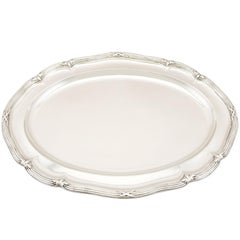 1839 Antique Victorian Sterling Silver Meat Platter