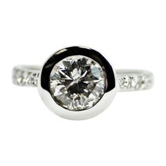1.83 Carat Diamond Bezel Ring