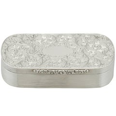 1840 Antique Sterling Silver Table Snuff Box