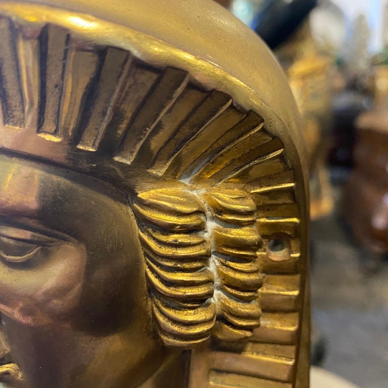 1840 Retour d'Egypt Set of two Antique Gilded Bronze Italian Sphinxes For Sale 4
