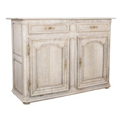 1840s French Bleached Oak Buffet