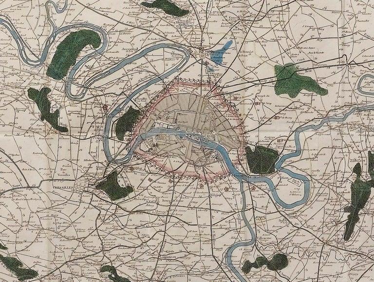 Antique Map of Paris,