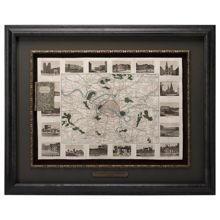 """Antique Map of Paris, """"Carte Routiere des Environs de Paris"""" 1841 For Sale"""