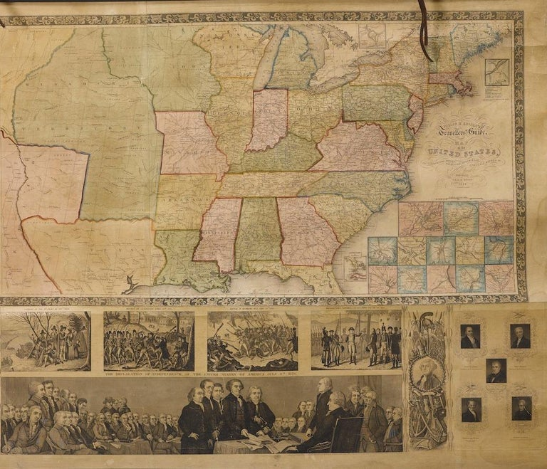 American 1844 Map of the United States, Antique Map, Featuring the Republic of Texas For Sale