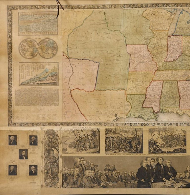 19th Century 1844 Map of the United States, Antique Map, Featuring the Republic of Texas For Sale