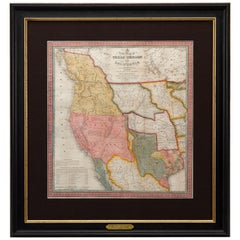 1846 Antique Map of Texas, Oregon, California, and Regions Adjoining by Mitchell