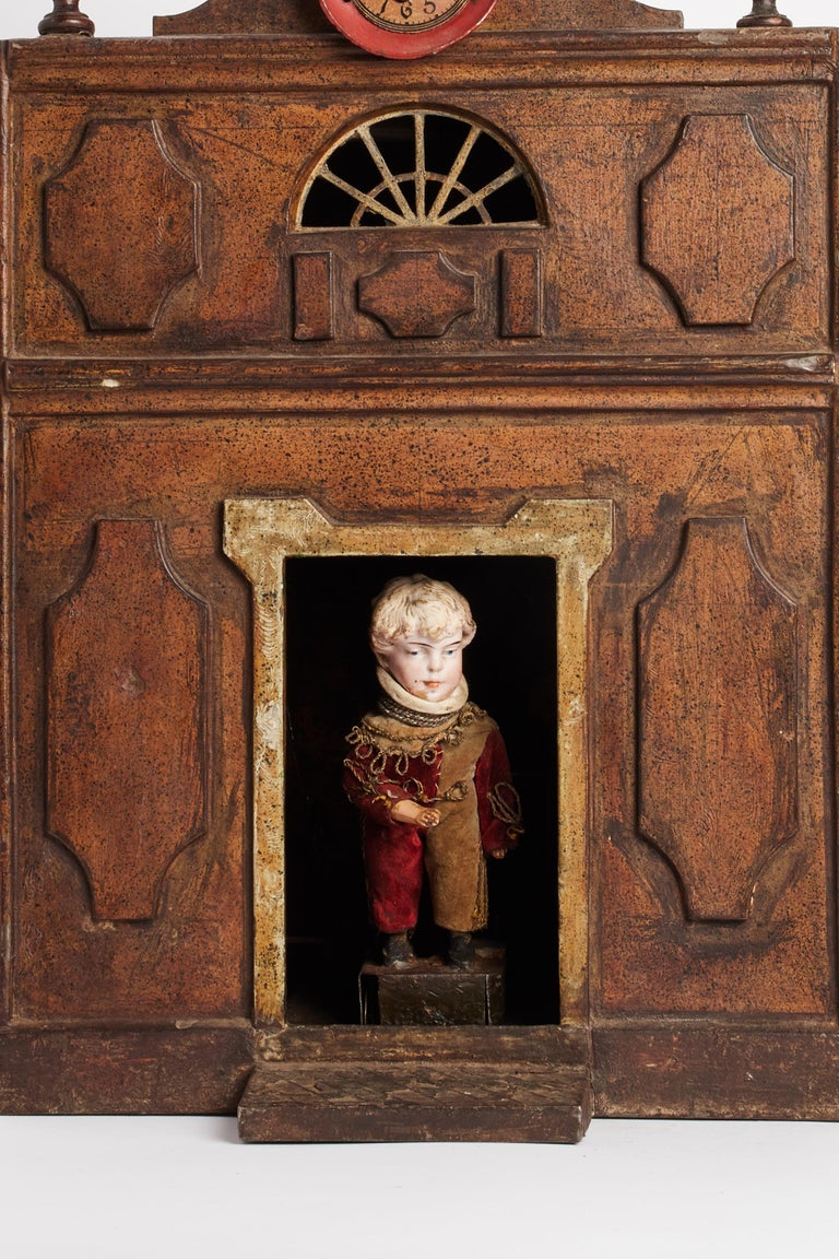 1800 Italian, Unusual Automata Made in the Shape of a House In Good Condition For Sale In Milan, IT