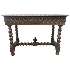 1850s Barley Twist Library Table