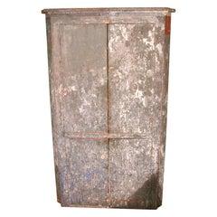 1850s Corner Cupboard Rustic Farm House Pine Cabinet