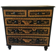 1850s Decoupage Butterfly Chest