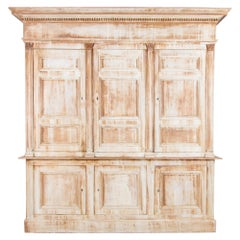 1850s French Neoclassical Wooden Patinated Cabinet