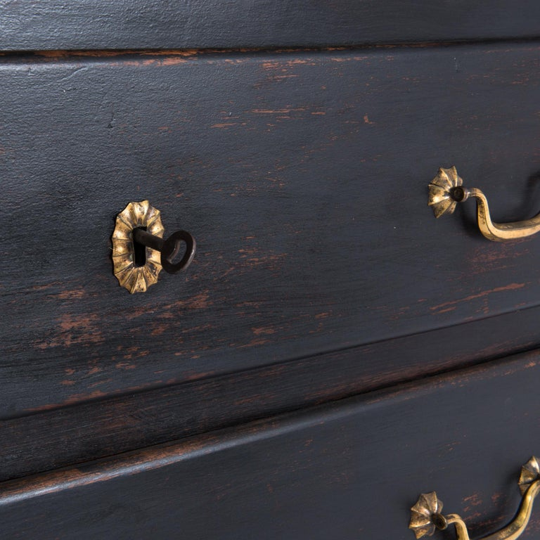 1850s French Wood and Marble Chest of Drawers For Sale 2