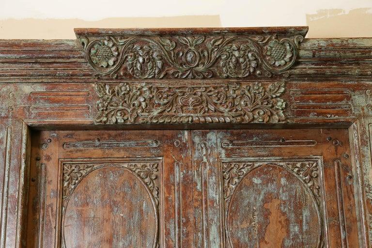 S solid teak wood elegant entry door from a settlers