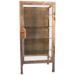 1853 Mayer and Meltzer Metal and Glass Medical Instruments Cabinet