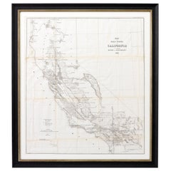 1856 Antique Map of the Surveys of California