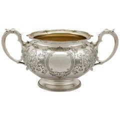 1856 Antique Victorian Sterling Silver Sugar Bowl