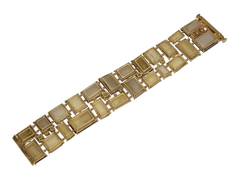 Women's 186 Carat Smoky Quartz, Citrine, and Diamond Bracelet For Sale