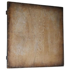 1860s-1920s Japanese Antique Mochiita Wooden Board Abstract Art Wabisabi