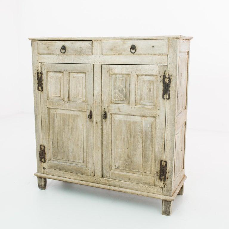 French Provincial 1860s Belgian Oak Buffet For Sale