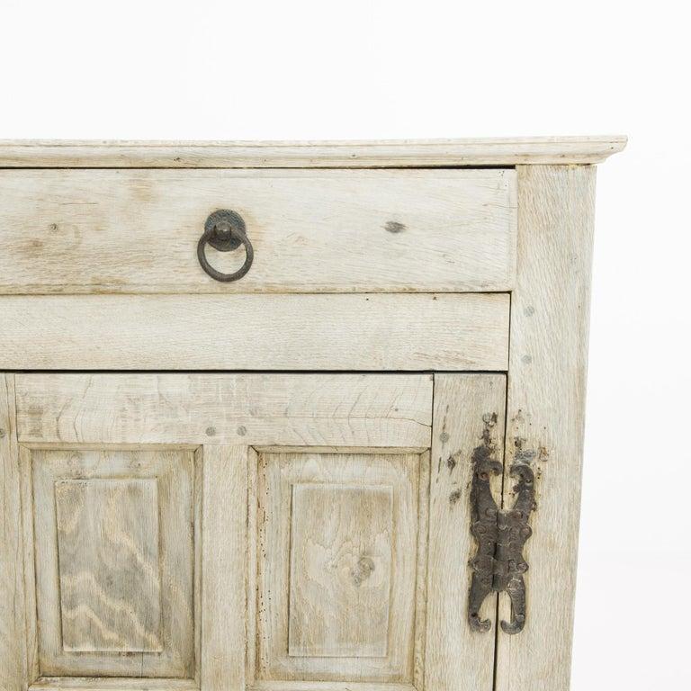 Bleached 1860s Belgian Oak Buffet For Sale