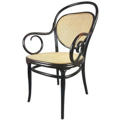 1860s Ebonized Thonet No.3 Bentwood Armchair
