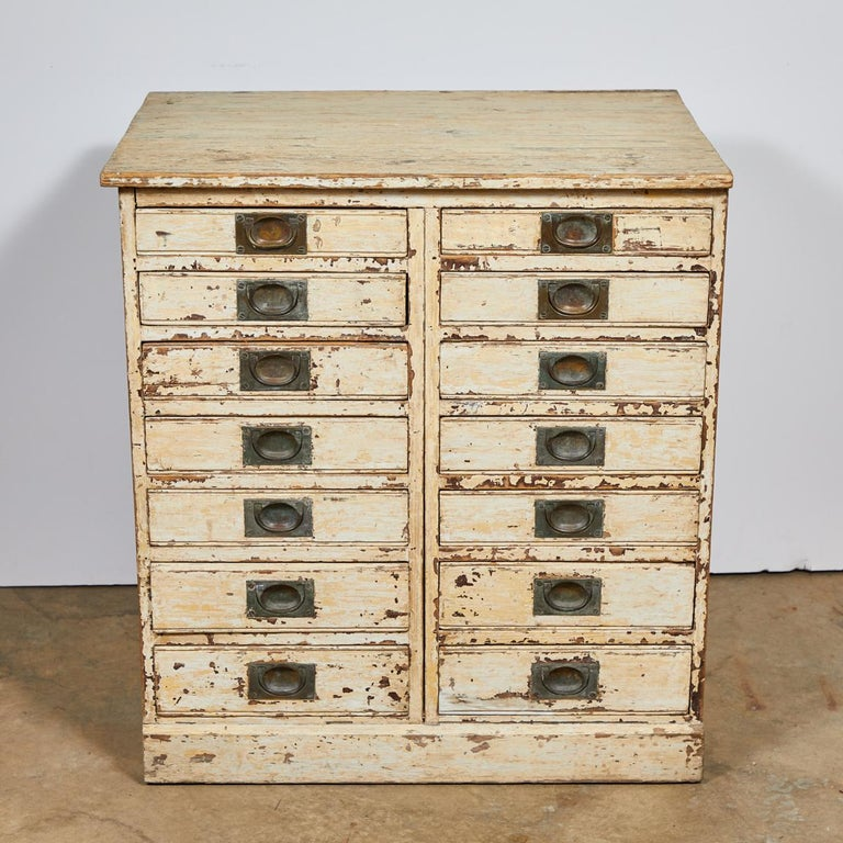 1860s English Collector's Drawer Cabinet Chest For Sale 1