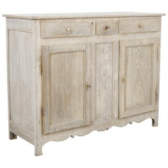 1860s French Bleached Oak Buffet