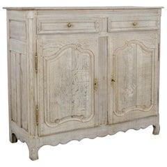 1860s French Bleached Oak Buffet