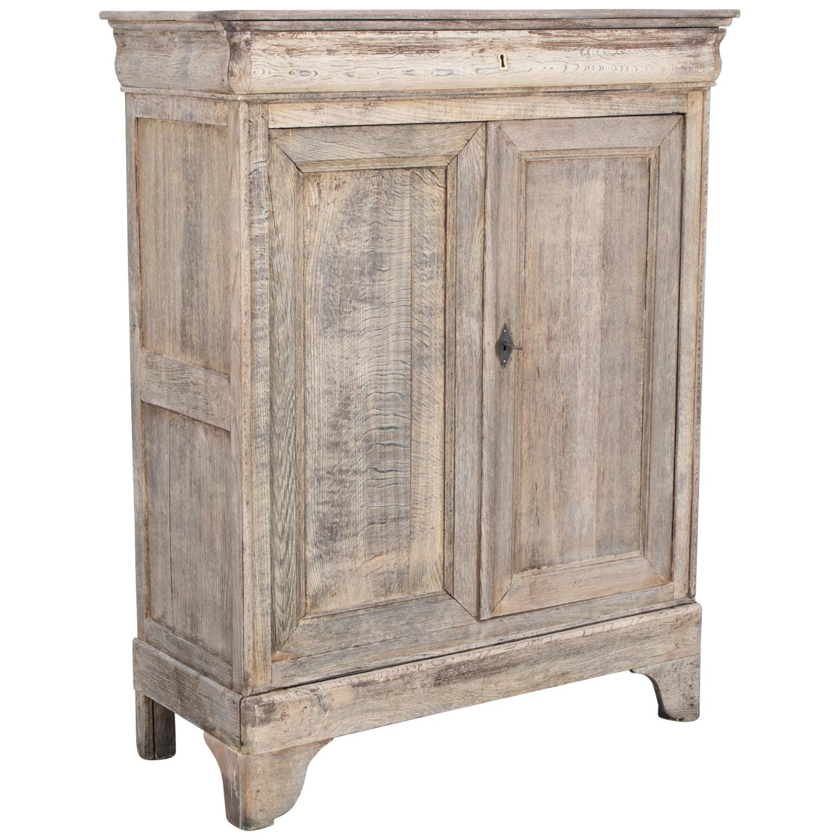 1860s French Country Oak Cabinet