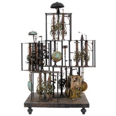 1860s French Metal Clock Sculpture