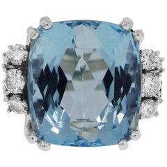 18.61 Carat Aquamarine Ring