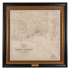1861 Topographical Map of the District of Columbia, by Boschke, Antique Map