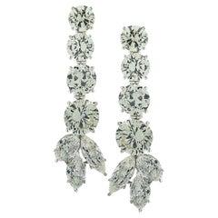18.62 Carat Diamond Dangle Earrings