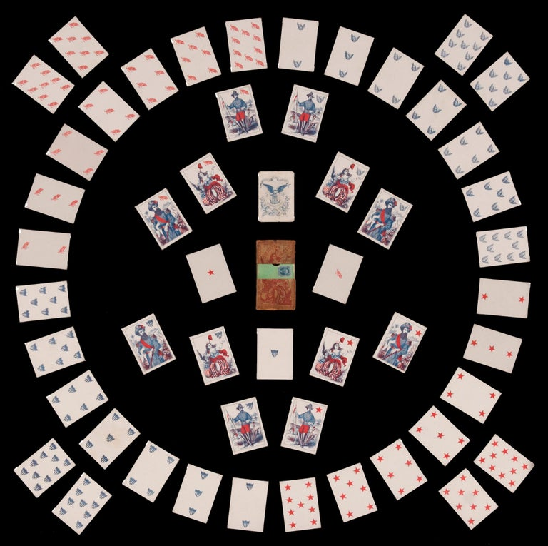 American 1862 Civil War Playing Cards with Stars, Flag, Sheild's and Eagles For Sale