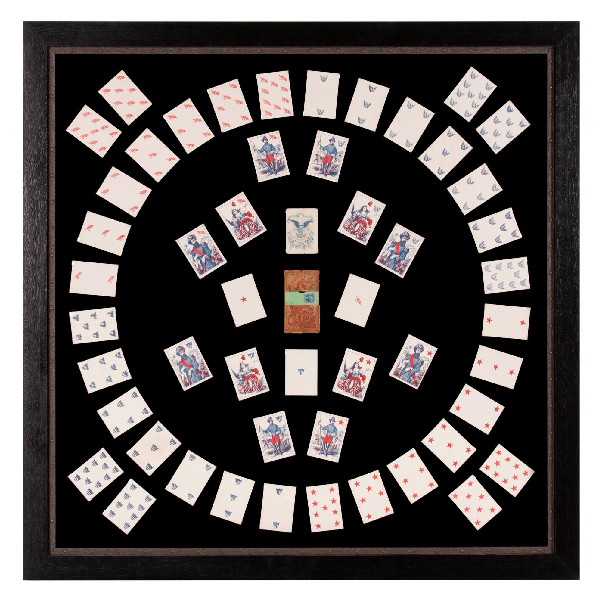 1862 Civil War Playing Cards with Stars, Flag, Sheild's and Eagles