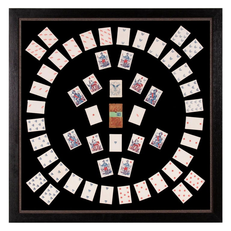 1862 Civil War Playing Cards with Stars, Flag, Sheild's and Eagles For Sale