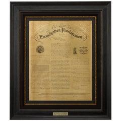 "1863 ""Facsimile Emancipation Proclamation"" Broadside by Edward Mendel"