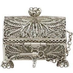 1864 Antique Russian Silver Trinket Box