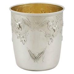 1865 Antique Victorian Scottish Sterling Silver Beaker