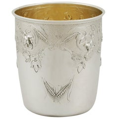 1865 Antique Victorian Scottish Sterling Silver Beaker