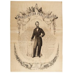 1865 Emancipation Proclamation, Antique Lithograph by P.S. Duval and Son