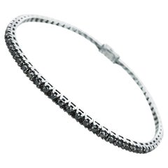 1.87 Carat Unisex Black Diamond Tennis Bracelet