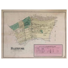 1870 Map Flatbush Brooklyn New York
