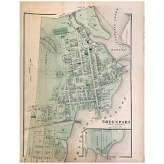 1870 Map of Greenport Long Island New York