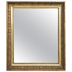 1870s French Gilded Square Mirror