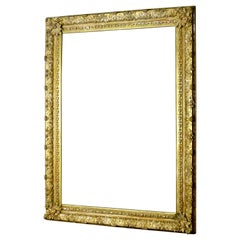 1870s Grand Antique French Gilt Picture Frame