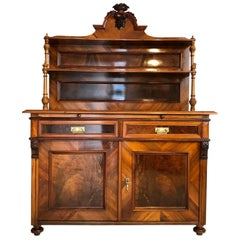 1870s Historicism Buffet with a Walnut Veneer